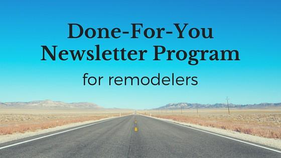 remodelers-newsletter-program